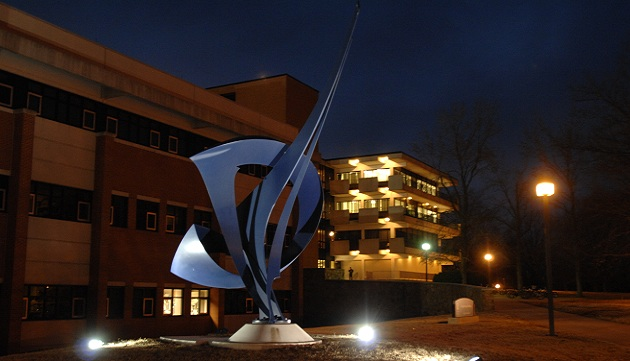 College of Engineering at night